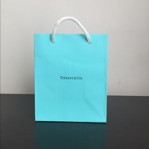 Authentic Tiffany Small Jewelry Paper Shopping Bag